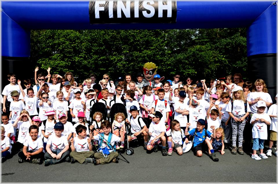 Finish Line Well done to all kiddie climbers 2014