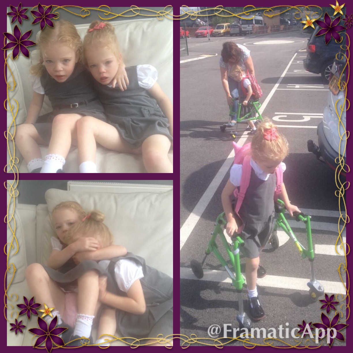 Darcie & Evie start school